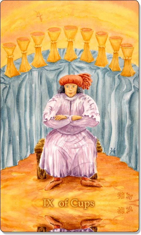 Image of The Nine of Cups card