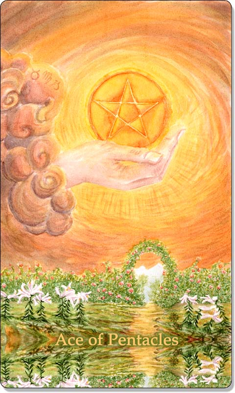 Image of The Ace of Pentacles card