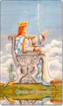 Image of The Queen of Swords card
