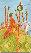 Image of The Six of Wands card