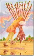 Image of The Ten of Wands card