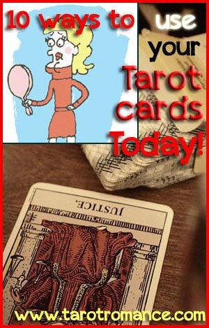 Ten ways to use your Tarot cards today. Tarot isn't just for big, life-changing events. Here are ten ways you can use your Tarot cards today! Tarot Romance. #tarot #romance #tarotcards #tarotreadings #love