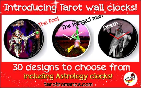 being happy Tarot Wall Clocks!