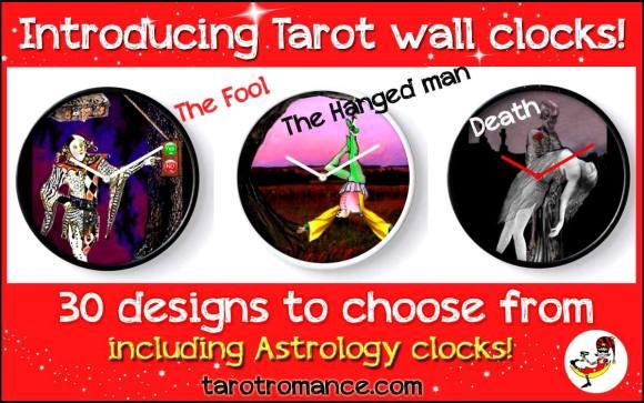 Tarot Wall Clocks!