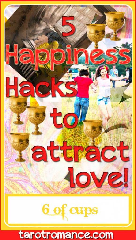 5 Happiness hacks to raise your vibration and attract love! #love #lawofattraction #abrahamhicks #happiness #vibration #6ofcups