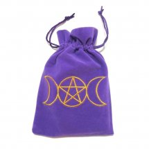 Triple Moon Purple Luxury Tarot Bag