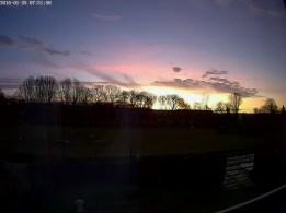 Sunrise over Chapel field