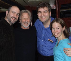 Kris Kristofferson with Steve Lurie of Music Without Borders, Executive Director Bjorn Olsson and Karina E Ringeisen