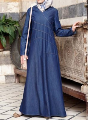 Denim-Abaya-And-Turkish-Coats-2018-Designs