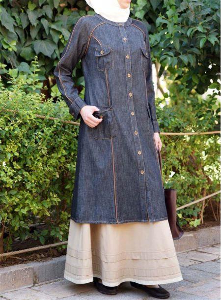 Summer-Friendly-Denim-Abaya-Online-In-Pakistan