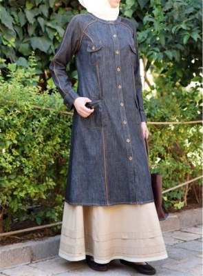 Summer-Friendly-Denim-Abaya-Online-In-Pakistan