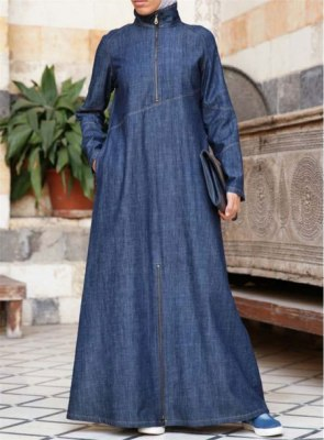 Summer-Friendly-Denim-Abaya-Turkish-Coats-Online-In-Pakistan-2018