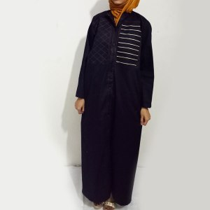 Denim-Abaya-Black-Front-Double-Design-Online