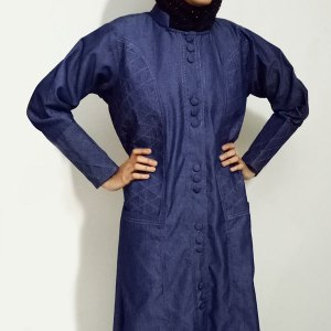 Denim-Abaya-Front-Buttoned-With-Thread-Design-Stylish-Turkish-Coatsonline-abaya-shopping-in-pakistan