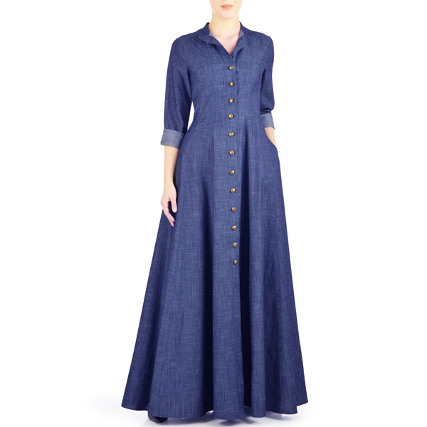 Buy-Jilbab-Denim-Abaya-Latest-Design-Online-In-Pakistan-Blue-Summer-Maxi-Style