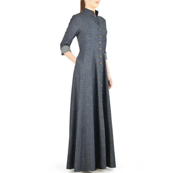 Grey-Summer-Wear-Maxi-Style-Denim-Abaya-Latest-Design