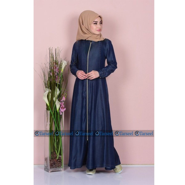 Buy-Full-Zip-Up-Denim-Abaya-Zipper-Abaya-For-Her-Online-In-Pakistan