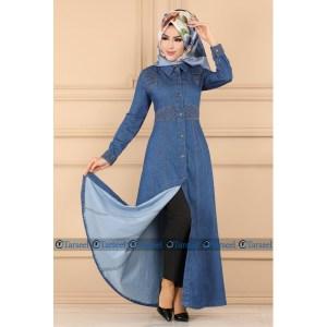 Buy Thread Design Denim Abaya Online In Pakistan