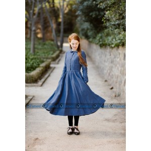 Stylish Designer Short Denim Abaya Frock Style Short Denim Jeans Abaya