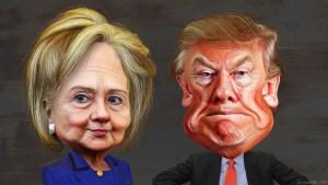 Hillary Clinton and Donald Trump. Courtesy of DonkeyHotey Creative Commons Flickr