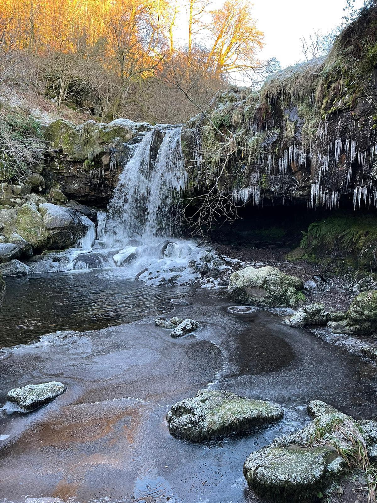 Frozen Waterfall at Campsie Fells