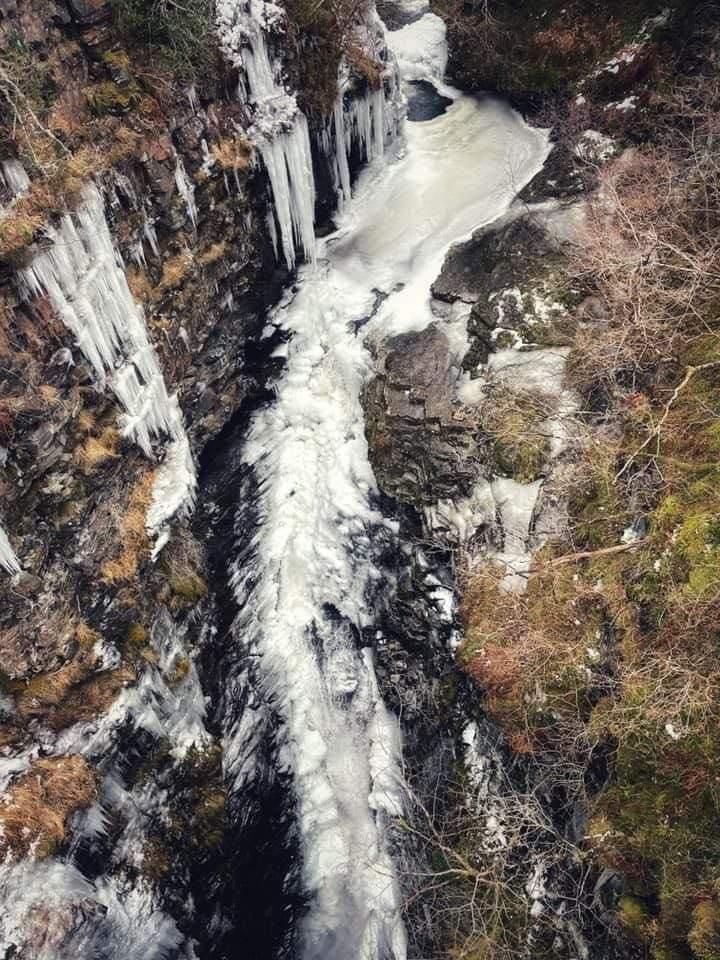 Frozen Waterfall Corrieshalloch NC500