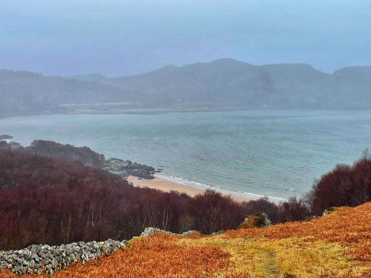 Gruinard Bay Beach from a distance