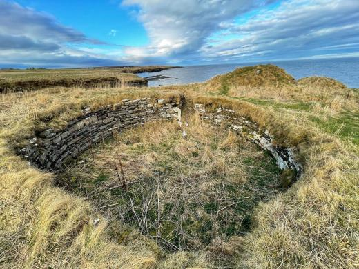 Round house at Nybster Broch