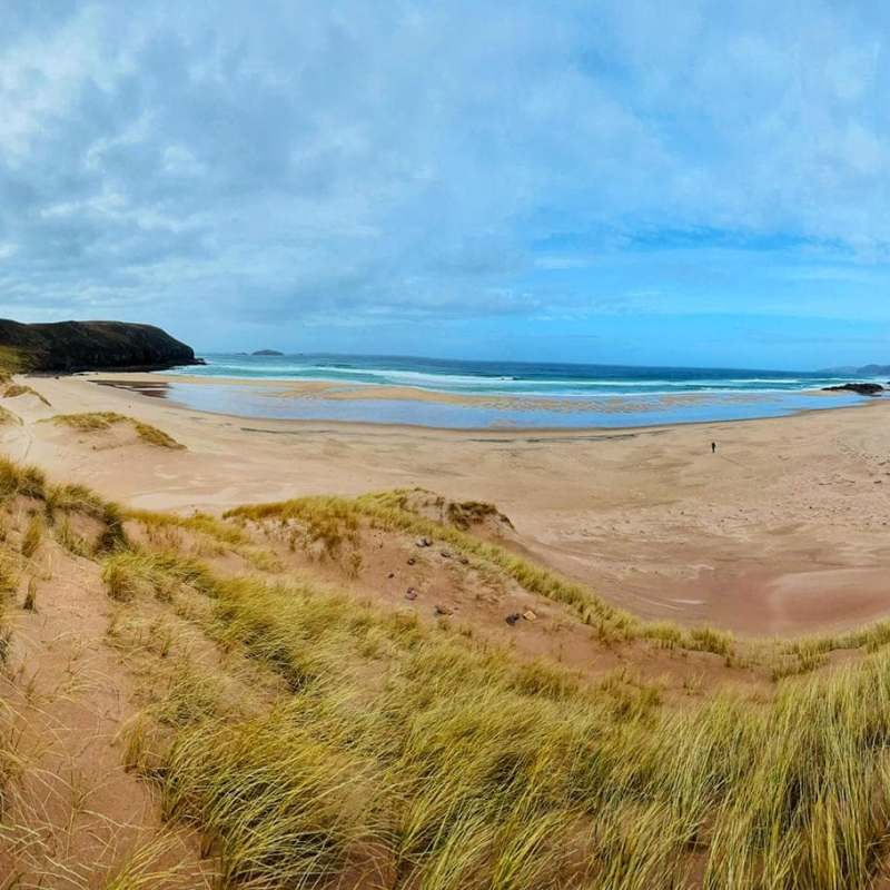 Sandwood bay panoramic view