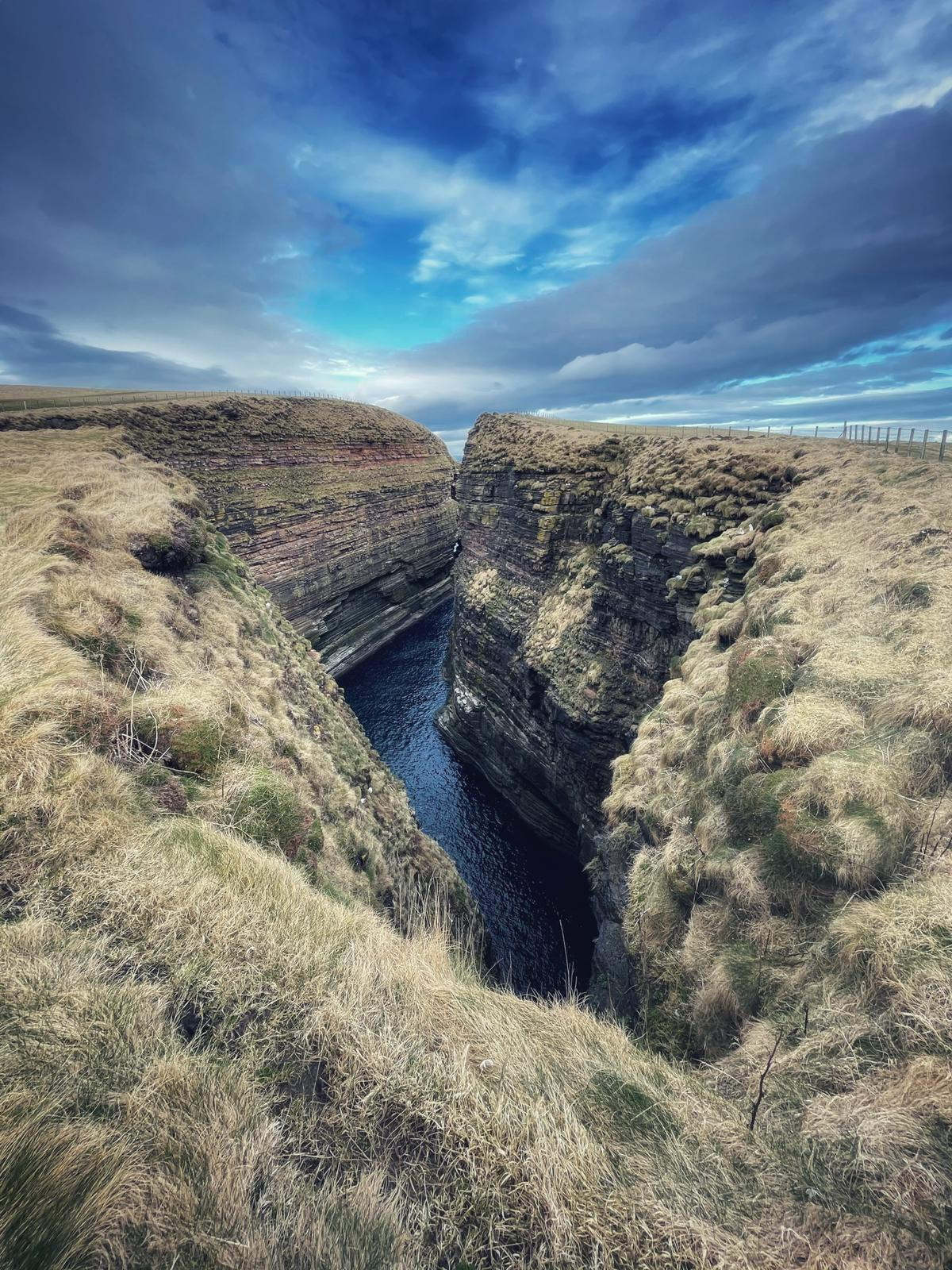 Canyon in cliff at duncansby head NC500