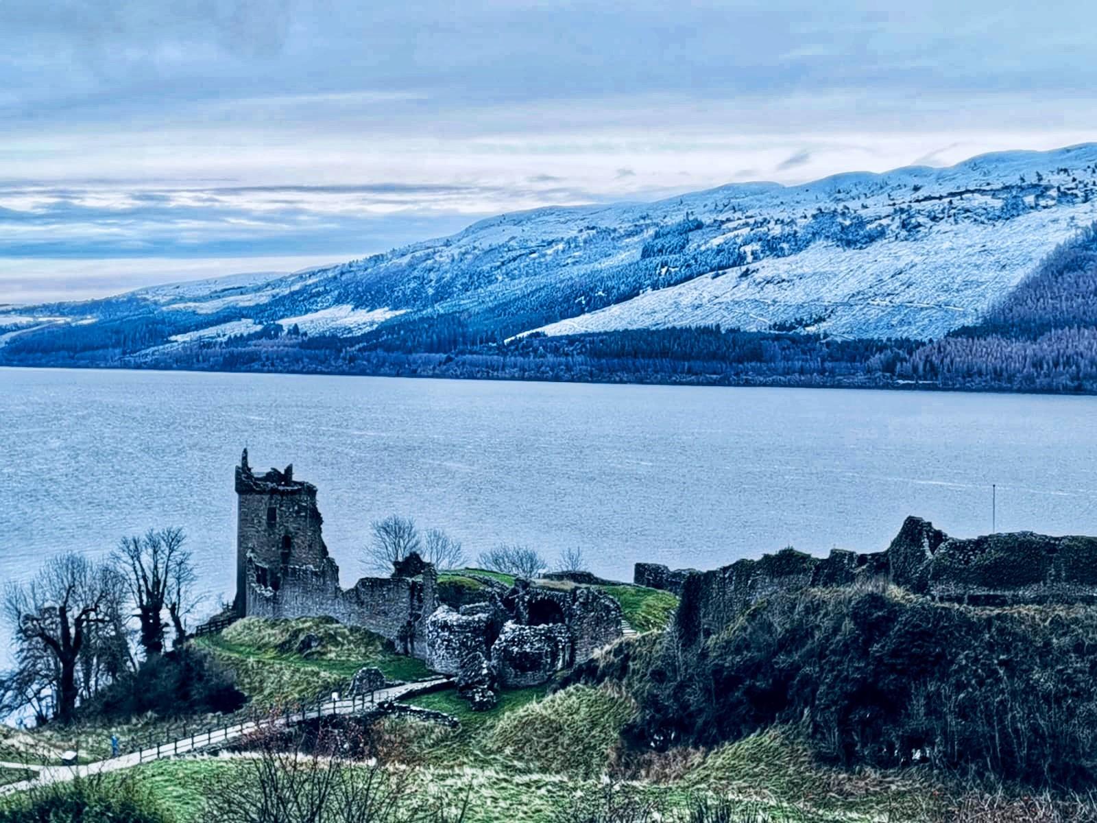 Urquhart Castle Snow Loch Ness