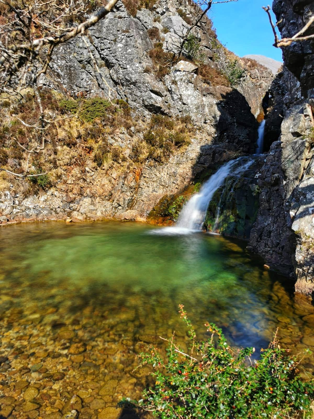 Secret waterfall and pool skye