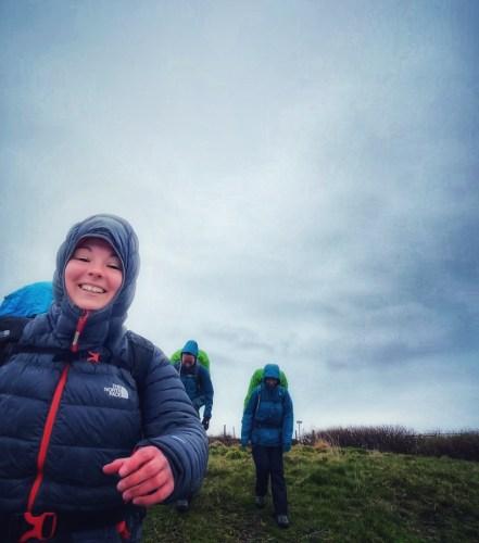 girls doing the skye trail