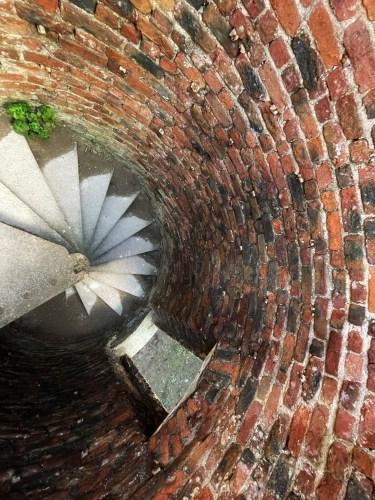 Spiral staircase at Slains castle