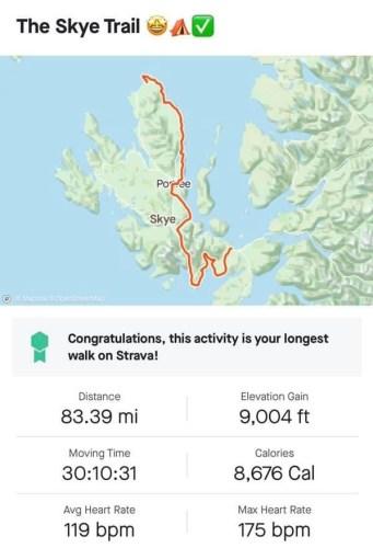 The skye trail on strava