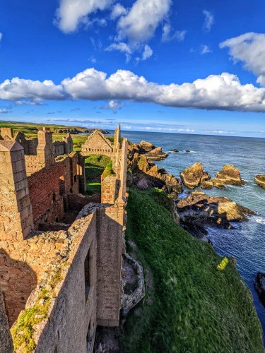The view from Slains castle