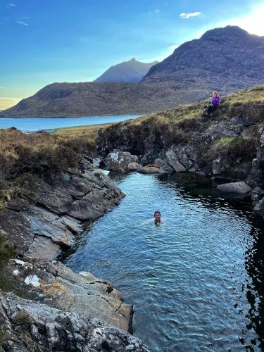 swimming while doing the skye trail