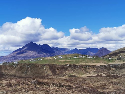 The view of the cuillins on the skye trail