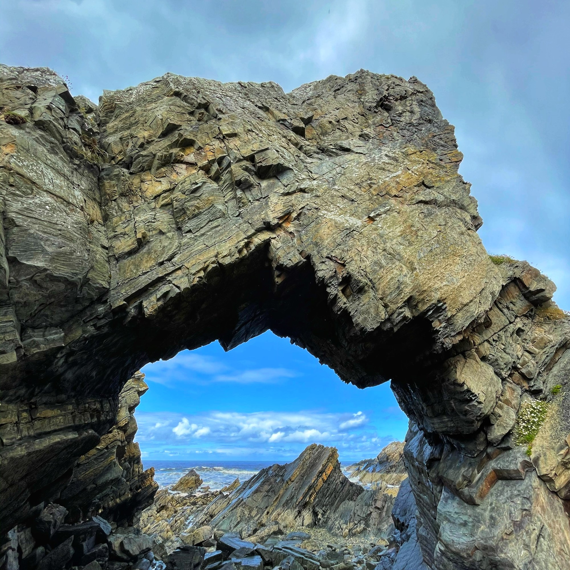 Rock arch next to tarlair pool