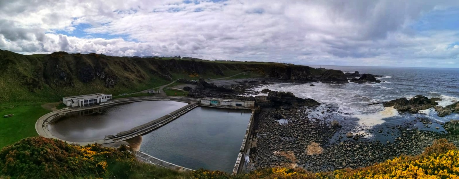 Panoramic picture of tarlair abandoned pool