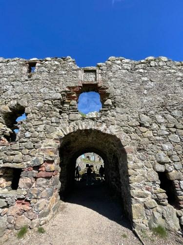 pitsligo castle entrance
