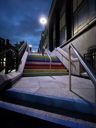 rainbow stairs in aberdeen