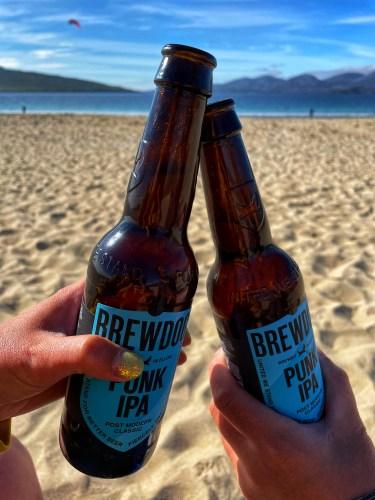 Beers on Luskentyre beach