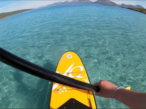 Paddle boarding on Isle of Harris