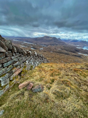 The famine wall on Suilven
