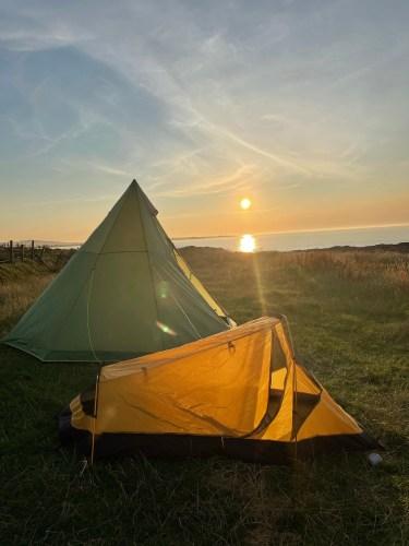 Camping at Balephetrish Bay