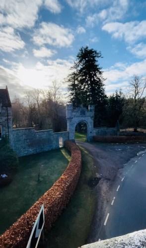 Entrance to castle grant estate
