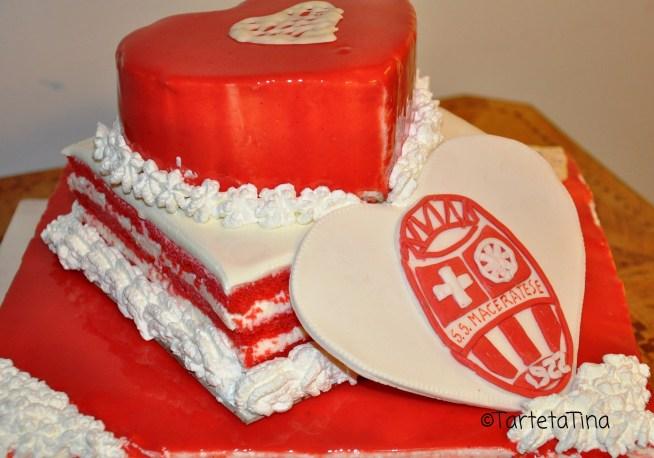 Torte speciali :Torta 'Cuore BiancoRosso'