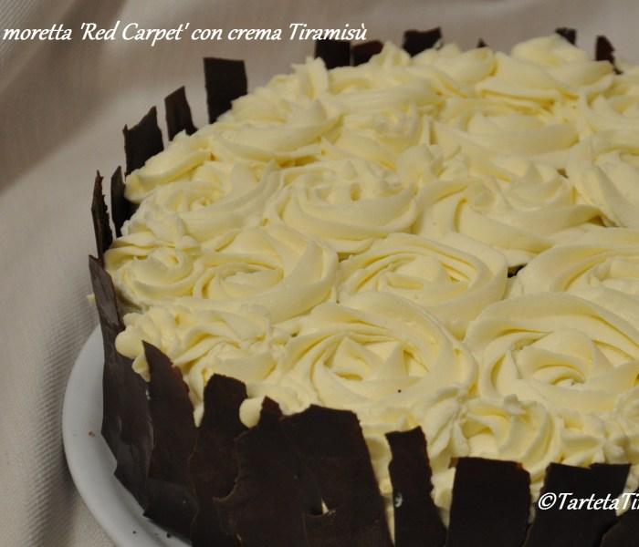Torta moretta 'Red Carpet' con crema Tiramisù