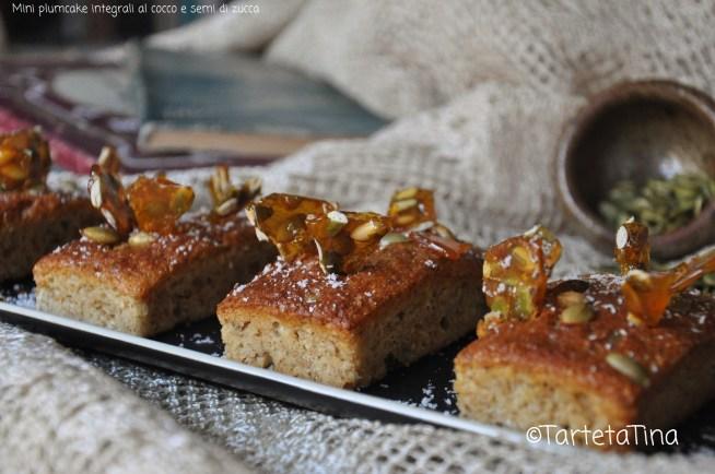 plumcake integrali al cocco e semi di zucca